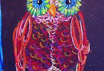 Pöllö pastellivärein