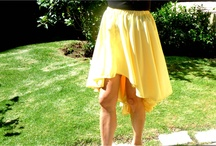 "High- Low Mullet Skirt by Magdi Studio / This skirt flows beautifully as you walk. The front is 15"". The back is 26.5""."