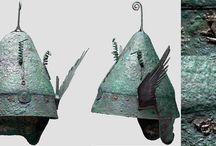 Ancient helmets Greek attic helmets / Greek attic helmet - Pilos helmet - Greek helmet - Greek bronze helmet