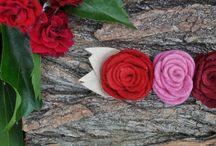 Sweet Cherry / Handmade feltflowers