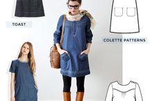 The ultimate denim dress / Research, ideas and inspiration for my next sewing pattern. Delicious delightful denim!