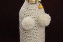 Μπουκάλι από πλεκτό (σκυλάκι)
