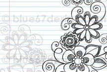 Doodle, Mandala and Zentangle