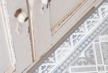 Carreaux de ciment / Des inspirations, des mises en situations de carreaux de ciment en intérieur et extérieur.
