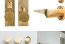 Door handle fixture hardware / Various styles and colors