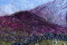 Fabric /Textile paintings