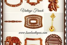 Beautiful Vintage Findings / It's such a joy to find gorgeous old jewelry components from days gone by!  It's our little side specialty at www.bsueboutiques.com   Here are some of my favorites!
