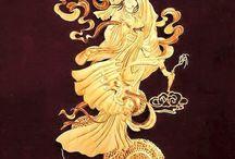 黄金観音様と龍