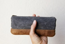leather pouch zipper