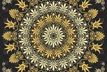 Αρχαία Ελληνικά σχέδια Ancient Greek floral pattern.