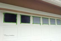Garage Doors - DIY / Okay.. So you want to try something. Here's some ideas of what others have done with/to/for/on their garage doors. At OK Door Service, we recommend you leave the technical work to the professionals, but that doesn't mean you can't liven up your garage door with some creativity.
