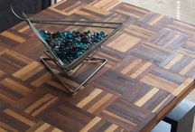 Parquet flooring repurposed