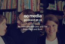 Go Media Podcast / The Go Media podcast is dedicated to tips, tricks, and tales of the business-minded artist and designer. How can you be more profitable? More creatively fulfilled? It's our way of letting you inside our studio to learn about the ups and downs we face here at Go Media and how we're dealing with them.