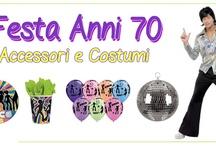 Festa a tema anni 70 / Rivivi la magia degli anni settanta organizzando una festa a tema! Scoprti tutti gli articoli in vendita su www.EccoLaFesta.it