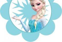 Ideias para Toppers da Frozen