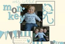 Our little monkey scrapbook page