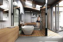 Organic & Industrial Bathroom Design