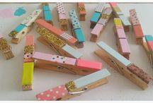 DIY avec des pinces à linge / De superbes inspirations récupérées pour vous pour une utilisation parfaite de pinces à linge :)
