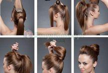 Hair, face....