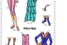 Paper dolls, cut-out dolls, comics dolls, magazines dolls / Old, Vintage, Retro