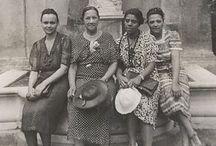 Women traveling / Four African American women traveling in Europe 1938