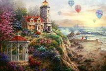Cross-stitch---Thomas Kinkade