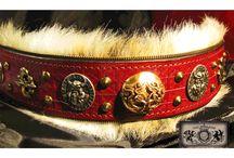 Leather Dog Collars / Designer handmade leather dog collars