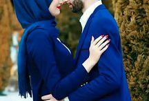 Man & Girl Couple Muslim
