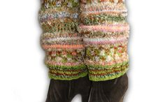 Hand Knitted Leg Warmers / Luxury exclusive hand made legwarmers. All British made