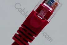 Red, White, and Blue - Booted Patch Cords / Pictures of Booted Patch Cords that are available at CableSupply.com
