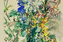 수채화-꽃