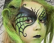Face Painting Characters and scary / Character faces eg Disney, superheroes Halloween / by Lynne Kells
