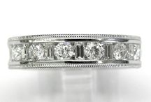 BRIDAL: LADIES WEDDING BANDS / Beautiful collection of diamond wedding bands, featuring all natural diamonds set in different metals from 10kt, 14kt,18kt , Platinum and combinations of metals