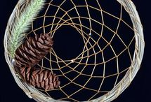 Natural Material Dream Catchers / Dream Catchers that are made from vine, willow, twig and other natural materials.