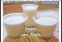 Kefir de água e Kefir de leite.