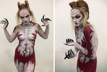 Creative / #bodypaint #sfxmakep #facepaint #zombies #horror #specialeffects #beauty