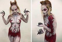 Creative / #bodypaint #sfxmakep #facepaint #zombies #horror #specialeffects #beauty