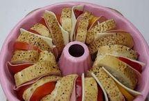 ekmek dilimli kek kalıbinda pasta