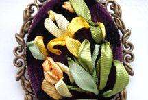 Украшения из лент / silk ribbon necklace silk wrap bracelets silk ribbon bracelet