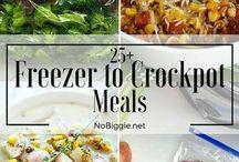 Freezer to Crock Pot Dinners