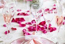 Pink White Wedding