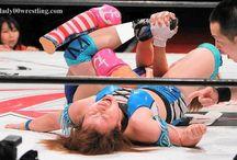 vintage girl female wrestling