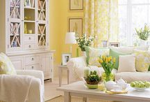 room color ideas with yellow walls / by Carol Chisenhall