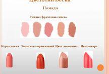цветотип  внешности в декоративной  косметике