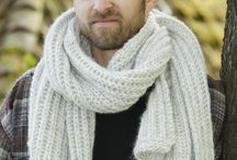 knitted Mens Scafs