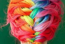 Peinados de colores / pelos teñidos de colores