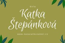 dula Katka Štěpánková - pozvánky / dula porod kontaktní rodičovství nošení