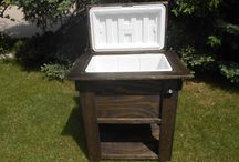 My rustic Cooler Builds / Rustic Deck coolers are great for backyard parties, gatherings, tailgates and the man cave!  Always come with a spigot for attaching a hose and easy draining.