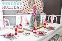 Vintage Christmas Party Inspiration