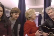 """Hillary Clinton takes the Mannequin Challenge together with Jon Bon Jovi / As for the preparation for the upcoming United State of America's Presidential Election, this November 8,2016 Tuesday Ms. Hillary Clinton running for Presidential Position and her campaign team together with one of the famous rock icons Jon Bon Jovi takes the Mannequin Challenge for the first and last time. The said Mannequin challenge takes place on the Democrat's Campaign jet of Clinton with the theme """"Don't Stand Still. Vote Today"""""""
